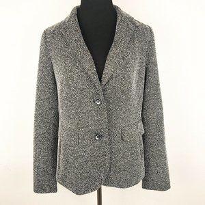 TALBOTS | Black/White Tweed Blazer Medium